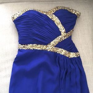 Dresses & Skirts - Royal Blue and Gold Prom Dress